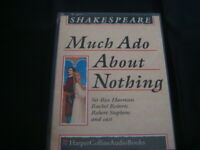 shakespeare  much ado about nothing      audiobook cassette sir rex harrison