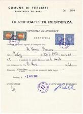 Italy Marca da Bollo Revenues Barefoot #254 #257 pairs on document 1980 cv $71