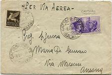 ITALY DALMATIA, AIR MAIL, ANNULS CATTARO, DEC 1941, 2 STAMPS X C50      m