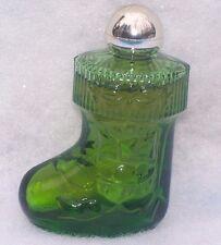 Vintage Avon Christmas Surprise Glass Stocking Perfume Bottle Ornament