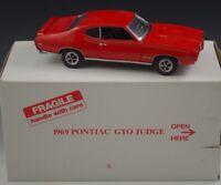 DANBURY MINT 1969 PONTIAC GTO JUDGE 1:24 SCALE DIE CAST MIB