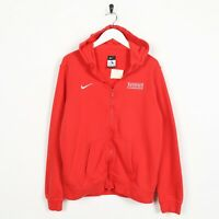 Vintage Kids NIKE Tennis Foundation Zip Up Hoodie Sweatshirt Red | 13-15 Yrs