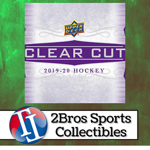19-20 UD Clear Cut Hockey 15 Hobby Box Half Case Break 3/5 4pm CST - Rangers