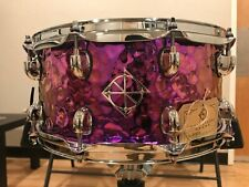 Dixon Cornerstone 6.5x14 Hammered Steel Purple Titanium-plated Snare Drum