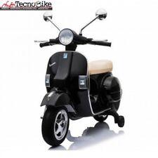 Moto elettrica per bambini PIAGGIO VESPA PX 150 con rotelle 12V luci led Nero