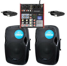 Kam RZ12A 2000W Active PA System With USB Bluetooth Mixer Ideal 4 Bands DJ Disco