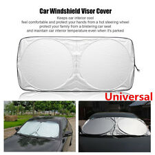 1pcs Coated Fabric Car Front Windshield Sunshade Silver Front Black Back Anti-UV