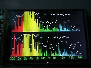 Level indicator Color LCD audio spectrum analyzer, sound VU meter, Oscilloscope