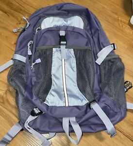Eddie Bauer Lavender/Purple Backpack Laptop section Excellent Condition