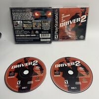 Driver 2 (PlayStation 1, 2000) PS1 Tested, Works Perfectly-black label