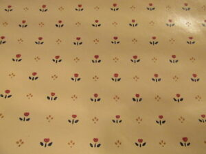 Wallpaper Dainty Small Floral Flowers Waverly Red Cranberry Tan Full Roll+   S97