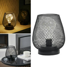 More details for 2 pack wire cage retro table lamp bedside reading desk light bedroom coffee shop