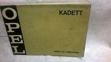 Manuale uso e manutenzione OPEL KADET-RALLYE- 1971