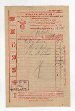 fattura antica - UNIONE MILITARE 1897
