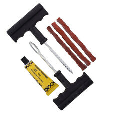 Car Tubeless Tyre Tire Puncture Repair Plug Kit Needle Patch Fix Tool