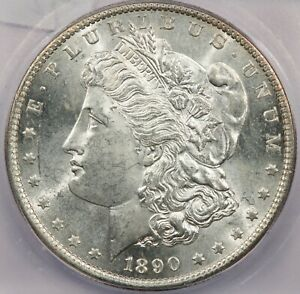 1890-S Morgan Silver Dollar ICG MS62