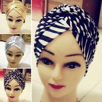 Fashion Boho Lady Knotted Flower Elastic Twisted Turban Hair Band Yoga Head Wrap