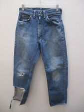 New listing Vintage 1960s Penney's Foremost Selvedge Jeans Trashed Size 29 X 30