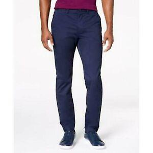 Lacoste Men's Regular Fit Cotton Gabardine Chino Pants : Navy Blue 36 x 34 2005