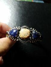 Carolyn Pollack Sterling Silver Jasper & Sodalite Cuff Bracelet