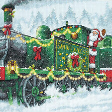 Cross Stitch Kit ~ Dimensions Santa Express Christmas Choo Choo Train #70-08918