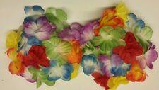 HAWAIIAN MULTI COLOURED FLOWER BRA FANCY DRESS  NEW
