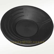 "14"" Black Plastic Gold Pan Nugget Mining Dredging Prospecting River Panning"