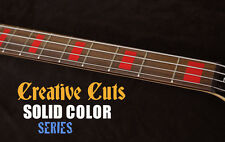 Blocks RED Fret Markers block Vinyl Inlays Stickers Decal for Jazz or ANY BASS