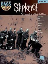 Slipknot Sheet Music Bass Play-Along Book and CD NEW 000703201