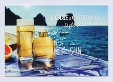 DOLCE & GABBANA - light blue - SUN  Carte parfumée perfume card avec 2 patch (x)