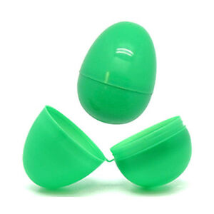 Green Plastic Filler Eggs for Easter Egg Hunt
