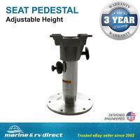 "Adjustable All Aluminum Marine Swival Boat Seat Pedestal 12""-18"" High"