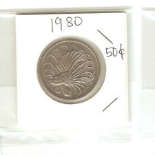 Offer>Singapore 50 cents 1980  Fish coin  lustre/high grade! ??