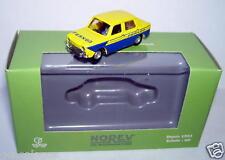 MICRO NOREV HO 1/87 SIMCA 1000 PERNOD BLEU JAUNE IN BOX