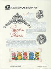 # 2997a GARDEN FLOWERS: DAHLIA, ASTOR... 1995 Commemorative Panel