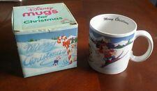 Vintage 1987 Disnay Mickey Mouse Merry Chrismas Applause Mug with Original Box!!