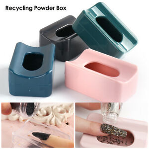 Nail Art Dipping Powder Glitter Recycling Tray Mold Box French Tip Decor Tool
