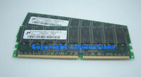 1GB (2x512MB) DDR PC1600R CL2 DDR 200Mhz ECC Reg Server Memory RAM , Dell, HP...