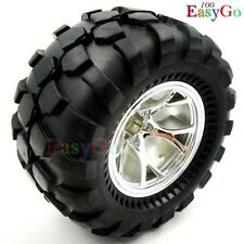 4pcs RC 1/10 Big Foot Soft Tires w/ 2.2in Wheels Hex 12mm for Wild Willy Truck