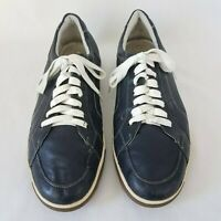 Cole Haan Size 12 M Navy Blue Leather Sneakers Men's Athletic Shoes