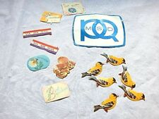 Nos Vintage Stickers Lot MSD Ignition Bird Via Air Mail Cute Chipmunk Gift Label