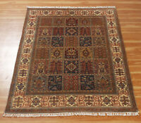 Handmade Oriental Area Wool Rug Ivory Red Shaya Hand Knotted Carpet 4x6 Ft Ebay