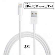 Câble Chargeur 3 M 3 mètres pour iPhone 5/6/7/8/X/XR/XS/C DATA SYNCHRO LIGHTNING