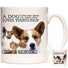 CARDIGAN WELSH CORGI MUG, Can Be Personalised, Dishwasher Safe, 11oz Ceramic Mug
