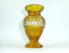 Ausgefallene Vase Haida um 1900 Gelb Überfang Überfangglas