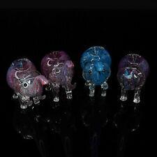 4.5 inch Handmade Colorful Tusk Elephant Smoking Bowl Glass Pipe - USA Seller