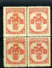 RED CROSS   ,- bklt o4   > color    COLOMBIA >>>>  1949   MNH