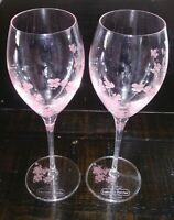 Two Laurent Perrier Maison Fondée 1812 Pink Flowered Champagne Flutes/Wine Glass