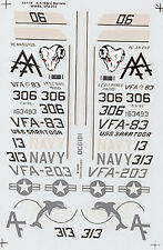 F/A 18A A/C HORNETS VFA-83 VFA-203 DECAL SUPER SCALE INTERNATIONAL 32-115