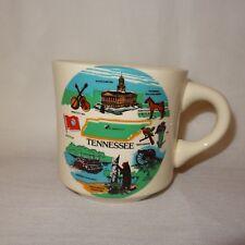 Vintage Tennessee Coffee Mug 10 oz Cup Ceramic Nashville State Capitol Flag USA